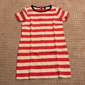 Jcrew striped t-shirt dress